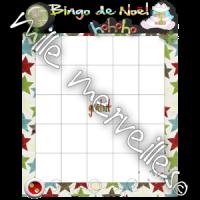 Bingo et mots Noël