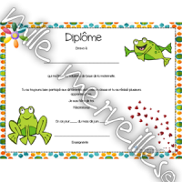 Diplôme grenouille