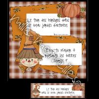 Horloges du jardin d'automne