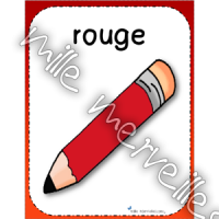 Affiches crayons couleur