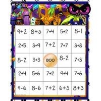 Bingo additions et soustractions 1-20
