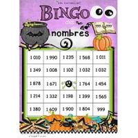 Bingo des nombres 999 à 1999