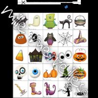 Bingo et mots Halloween