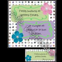 Boutons et fleurs