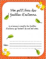 Cahier feuilles couleur