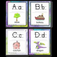 Cartes écriture alphabet