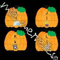 Citrouilles alphabet