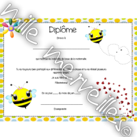 Diplôme abeille
