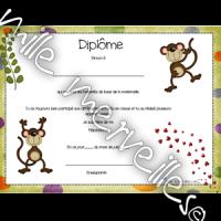 Diplôme singe