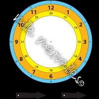 Horloge couleur