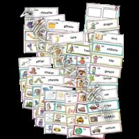 Mots-étiquettes variés