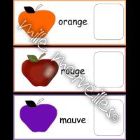 Pommes et couleurs