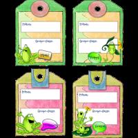 Étiquettes identification grenouilles