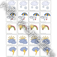 Étiquettes météo calendrier