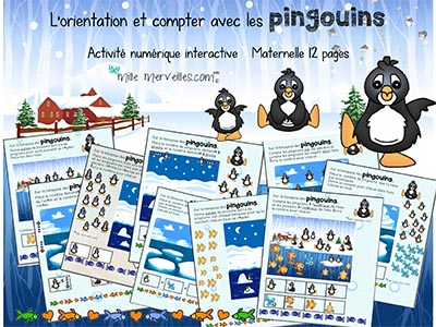 compter maternelle pingouins
